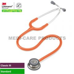 3M Littmann Classic III Stethoscope, Orange Tube, 5629