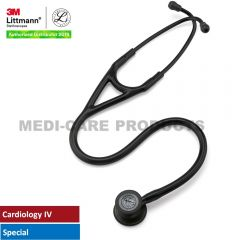 3M Littmann Cardiology IV Stethoscope,  All Black Special Edition, 6163