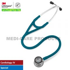 3M Littmann Cardiology IV Stethoscope, Mirror Finish Chestpiece, Caribbean Blue Tube, 6169