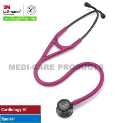 3M Littmann Cardiology IV Stethoscope, Smoke Finish Chestpiece, Raspberry Tube, 6178