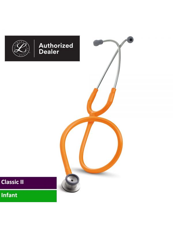 3M Littmann Classic II Infant Stethoscope, Orange Tube, 2179