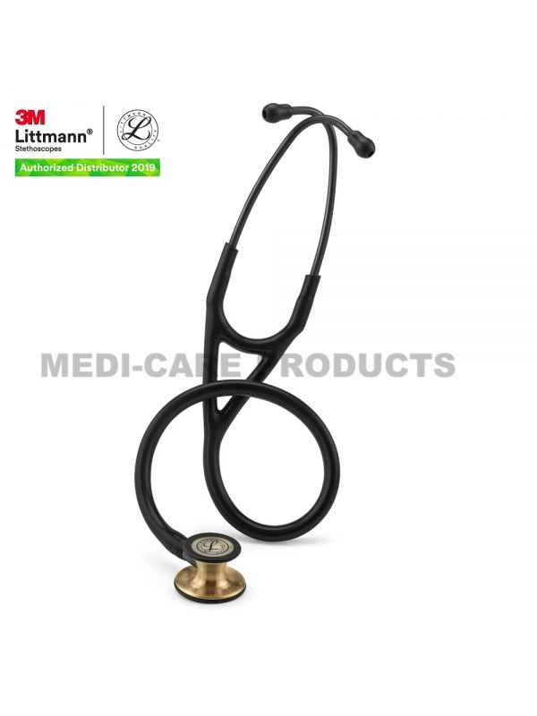 3M™ Littmann® Cardiology IV Stethoscope, Black Tube, Brass-Finish Chestpiece, Stem and Headset, Special Edition, 27 inch, 6164