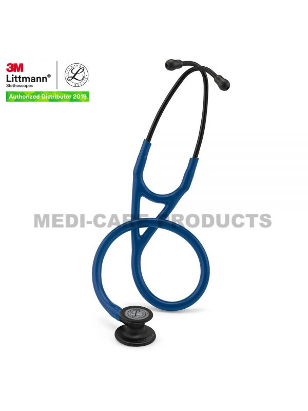 3M™ Littmann® Cardiology IV Stethoscope, Navy Blue Tube, Black-Finish Chestpiece, Stem and Headset, Special Edition, 27 Inch, 6168