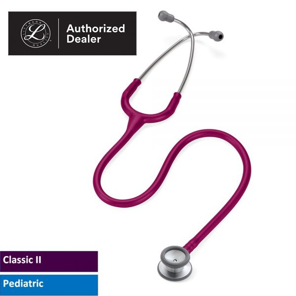 3M™ Littmann® Classic II Pediatric Stethoscope, Raspberry Tube, 27 inch, 2122