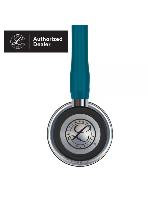 3M Littmann Cardiology IV Stethoscope, Mirror Finish Chestpiece, Caribbean Blue Tube, 27 Inch, 6169