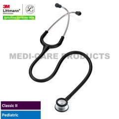 3M™ Littmann® Classic II Pediatric Stethoscope, Black Tube, 27 inch, 2113