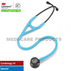 3M™ Littmann® Cardiology IV Stethoscope, Turquoise Tube, Smoke-Finish Chestpiece, Stem and Headset, Special Edition, 27 Inch, 6171