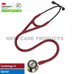 """3M™ Littmann® Cardiology IV™ Stethoscope, Burgundy with Champagne Accents and Champagne Chestpiece, 27"""" 6176"""
