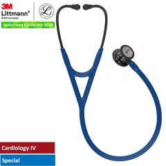 3M™ Littmann® Cardiology IV™ Diagnostic Stethoscope, High Polish Smoke Chestpiece, Navy Blue Tube, Blue Stem and Black Headset, 27 inch, 6204