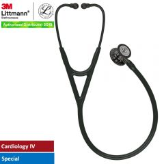 3M™ Littmann® Cardiology IV™ Diagnostic Stethoscope, High Polish Smoke-Finish Chestpiece, Black Tube, Champagne Stem and Black Headset, 27 inch, 6204