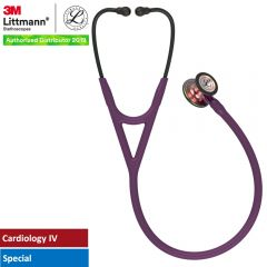 3M™ Littmann® Cardiology IV™ Diagnostic Stethoscope, Rainbow-Finish Chestpiece, Plum Tube, Violet Stem and Black Headset, 27 inch, 6205