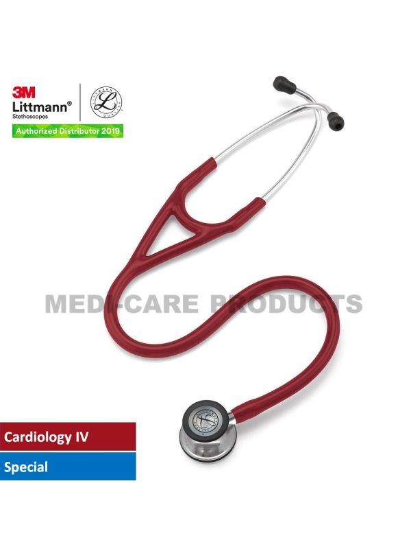 3M™ Littmann® Cardiology IV Stethoscope, Burgundy Tube, Mirror-Finish Chestpiece and Stem, Special Edition, 27 Inch, 6170