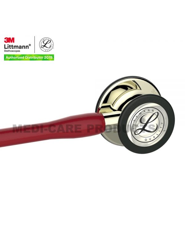 3M™ Littmann® Cardiology IV™ Stethoscope, Burgundy with Champagne Accents and Champagne Chestpiece, 27