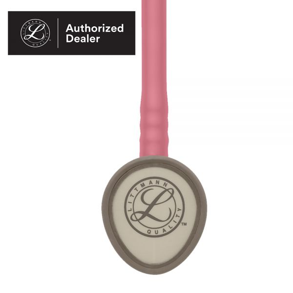 3M Littmann Lightweight II S.E. Stethoscope, 28 inch, #2456 (Pearl Pink Tube, Standard-Finish Chestpiece, Stainless Stem & Eartubes)